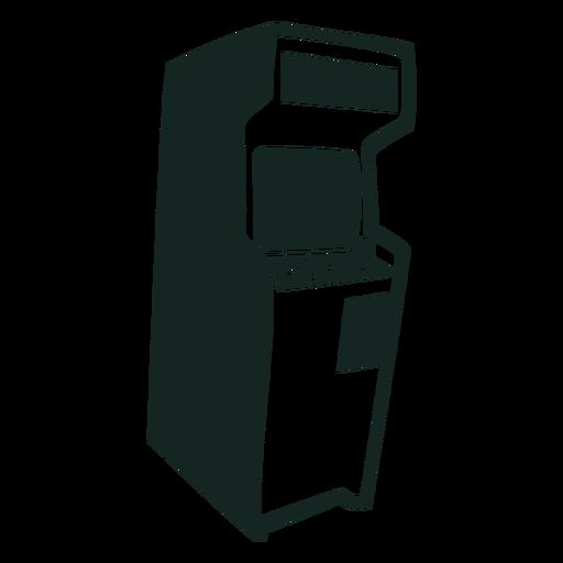 70s video game machine stroke