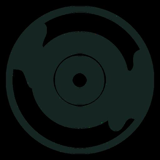 Golpe de disco de vinilo de los 70 Transparent PNG
