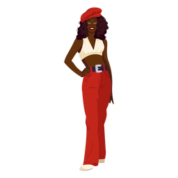 70s womanan red outfit character
