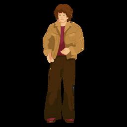 Roupa de homem de personagem dos anos 70