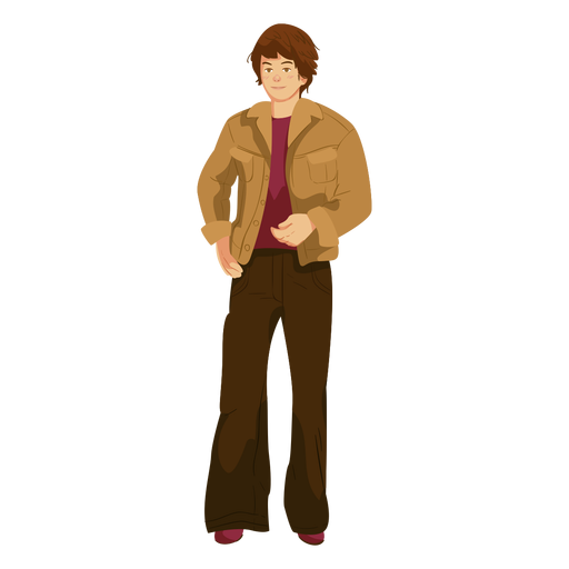 70s character man outfit Transparent PNG