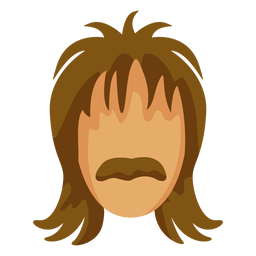 70 bigote peinado plana