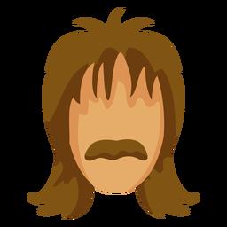 Bigode penteado dos anos 70 liso