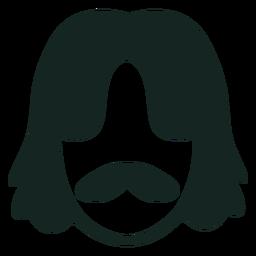70s peinado bigote trazo