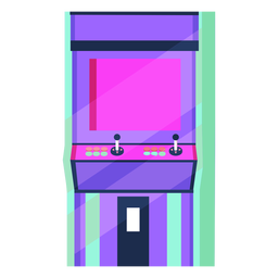 Máquina arcade de los 80 colorida
