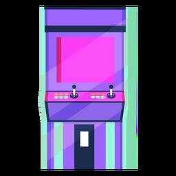 Máquina de arcade dos anos 80 colorida