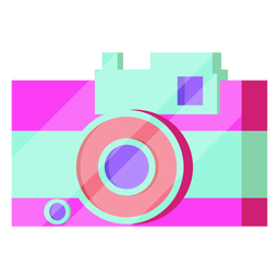 80s camera colorful
