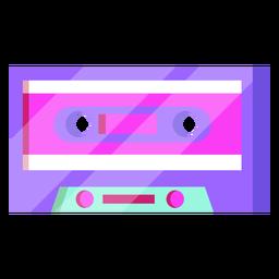 80s cassette colorful