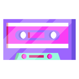 Cassette de los 80 colorido
