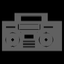 Leitor de cassetes dos anos 80