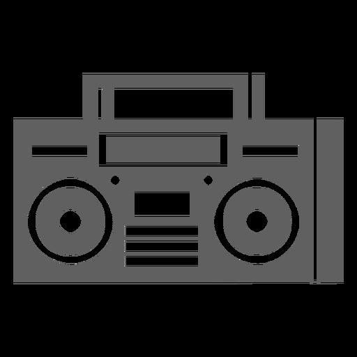 Leitor de cassetes dos anos 80 Transparent PNG