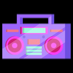 80 cassette player colorido