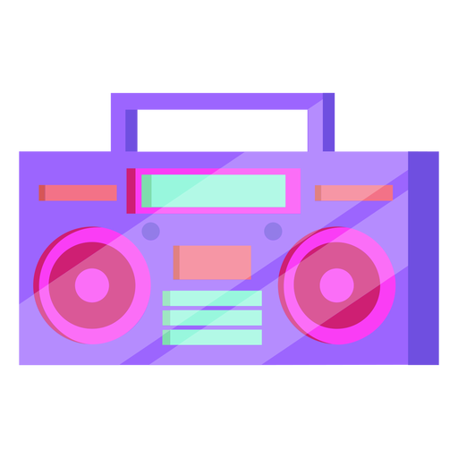 80s cassette player colorful Transparent PNG