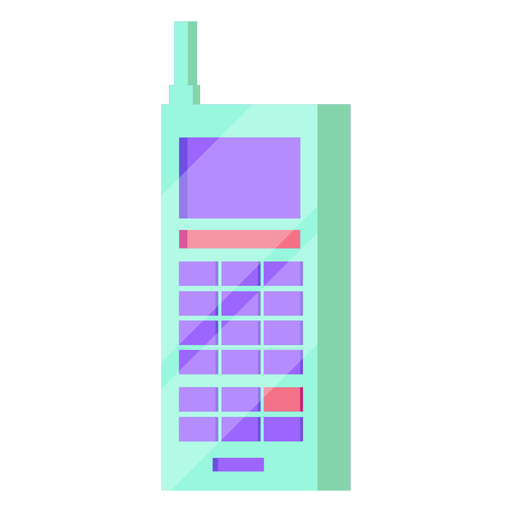 80s cellphone colorful Transparent PNG