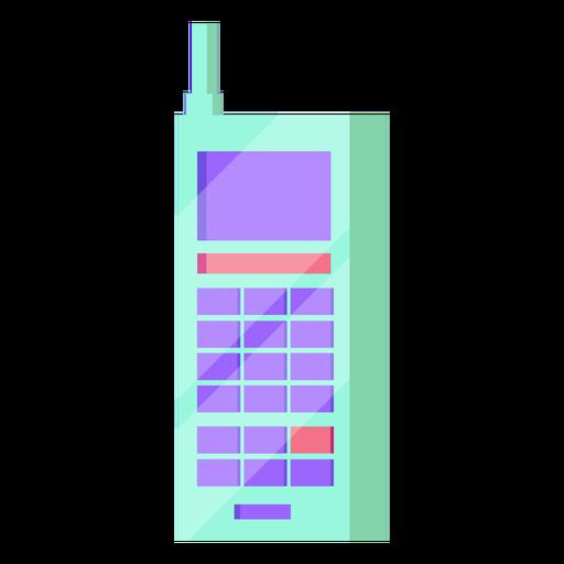 Celular dos anos 80 colorido Transparent PNG