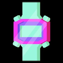 Reloj digital de los 80 colorido