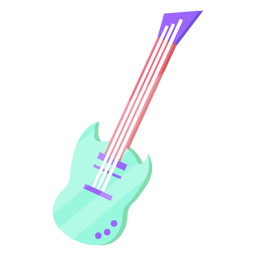 80s electric guitar colorful