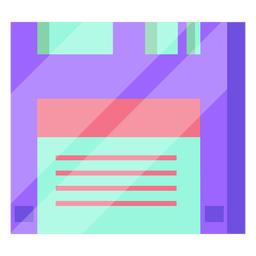 80s floppy disk colorful