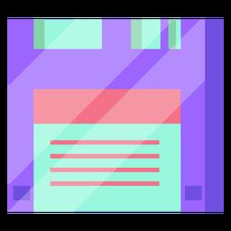 Disquete dos anos 80 colorido