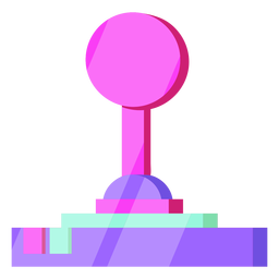 Controlador de joystick dos anos 80 colorido