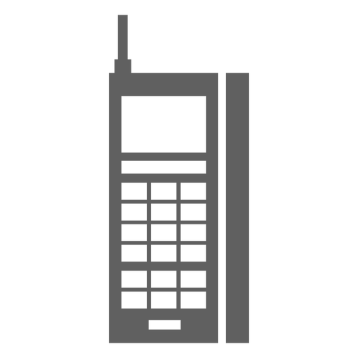 80s old cellphone mobile Transparent PNG