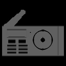 Antena do player de rádio dos anos 80