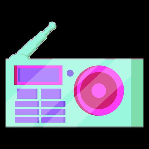 Antena de reproductor de radio de los 80 colorida
