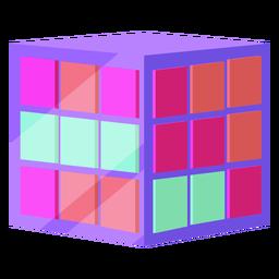 Cubo de rubik dos anos 80 colorido