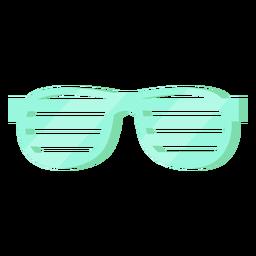 Óculos de slot dos anos 80 coloridos