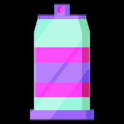 Lata de aerosol 80s colorido