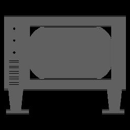 Tela de televisão dos anos 80