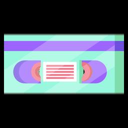 Cassete de vídeo dos anos 80 colorida