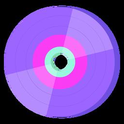 Disco de vinilo de los 80 colorido