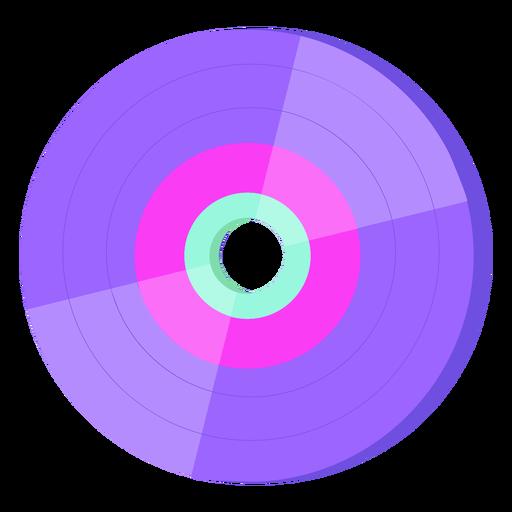 Disco de vinilo de los 80 colorido Transparent PNG