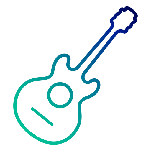 Acoustic guitar gradient stroke