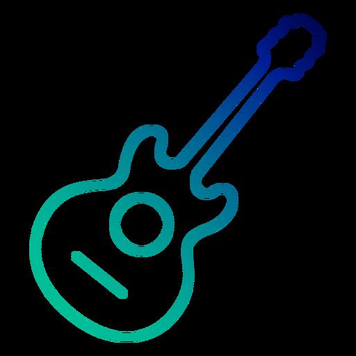 Trazo degradado de guitarra acústica