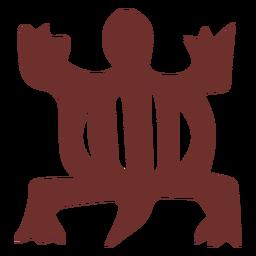 African symbol crocodile stroke