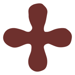 African symbol cross stroke