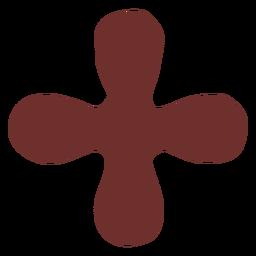 Símbolo africano trazo cruzado