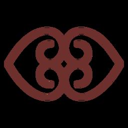 Afrikanisches Symbol Erdstrich