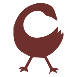 African symbol goose stroke