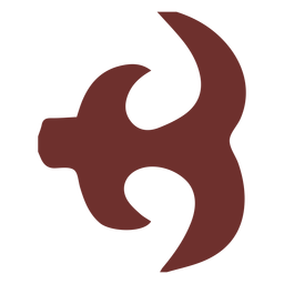 African symbol hen's leg stroke