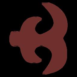Símbolo africano de la pierna de gallina