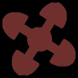 Símbolo africano vinculado a trazo de corazones