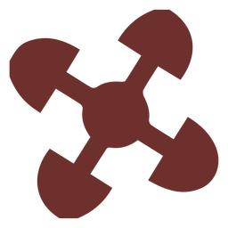 Símbolo Africano vinculado traçado de corações