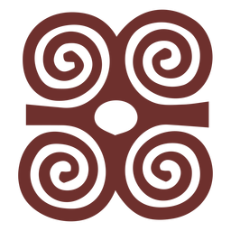 Curso de chifres de carneiro de símbolo africano