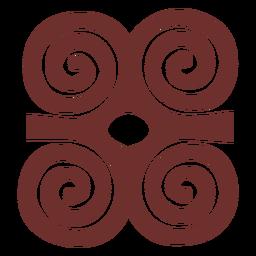 Símbolo africano trazo de cuernos de carnero