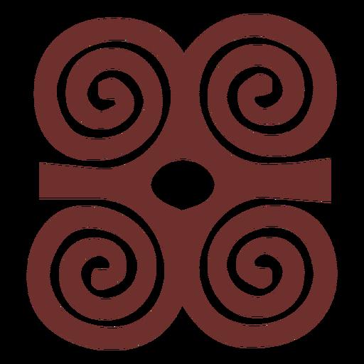 African symbol ram's horns stroke Transparent PNG