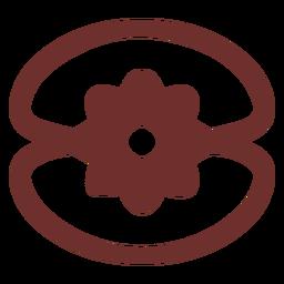Trazo de concha de símbolo africano