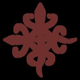 African symbol siamese crocodile stroke